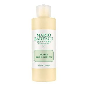 Mario Badescu Papaya Body Lotion (177ml) is a nourishing body moisturiser, suitable for all skin types.  Enriched with alpha hydroxy acids, this lotion works to gently exfoliate skin, improving a dull