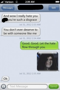 Star wars ex bf lolololol I love this...