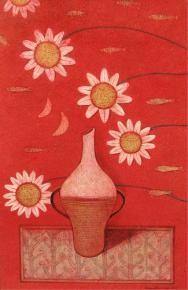 Vase - B #Painting By Soumitra Kar, Tempera On Acid Free Board, #IndianArtCollectors  #BuyArtOnline  #HomeDecor #IndianArt #IndianPaintings