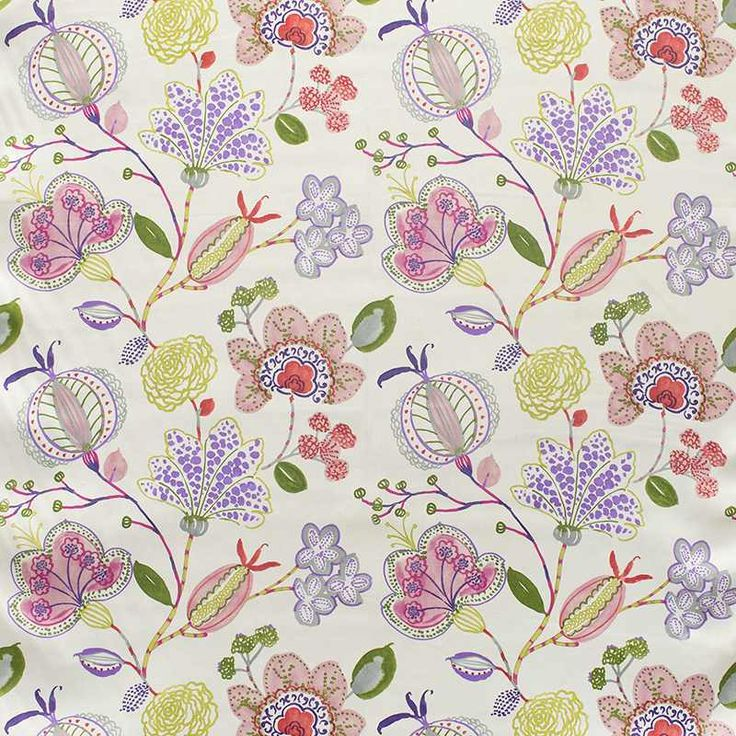 Warwick Fabrics : NEWBURY, colour Pop  #warwickfabrics #floral #textiles