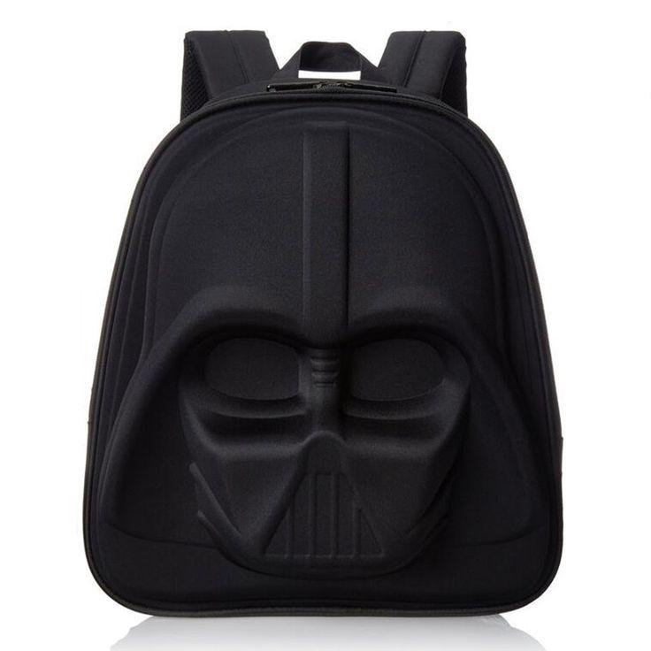 3D Negro Caballero niños ordenador bolsa Starwar cartable enfant schooltas niños bolsas mochilas escolares para niños de Dibujos Animados mochila sac à