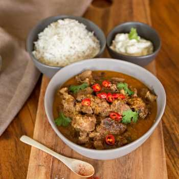 A tender lamb curry cooked in your Thermomix or slow-cooker. Packed full of flavour and tastier than ordered from your local restaurant!