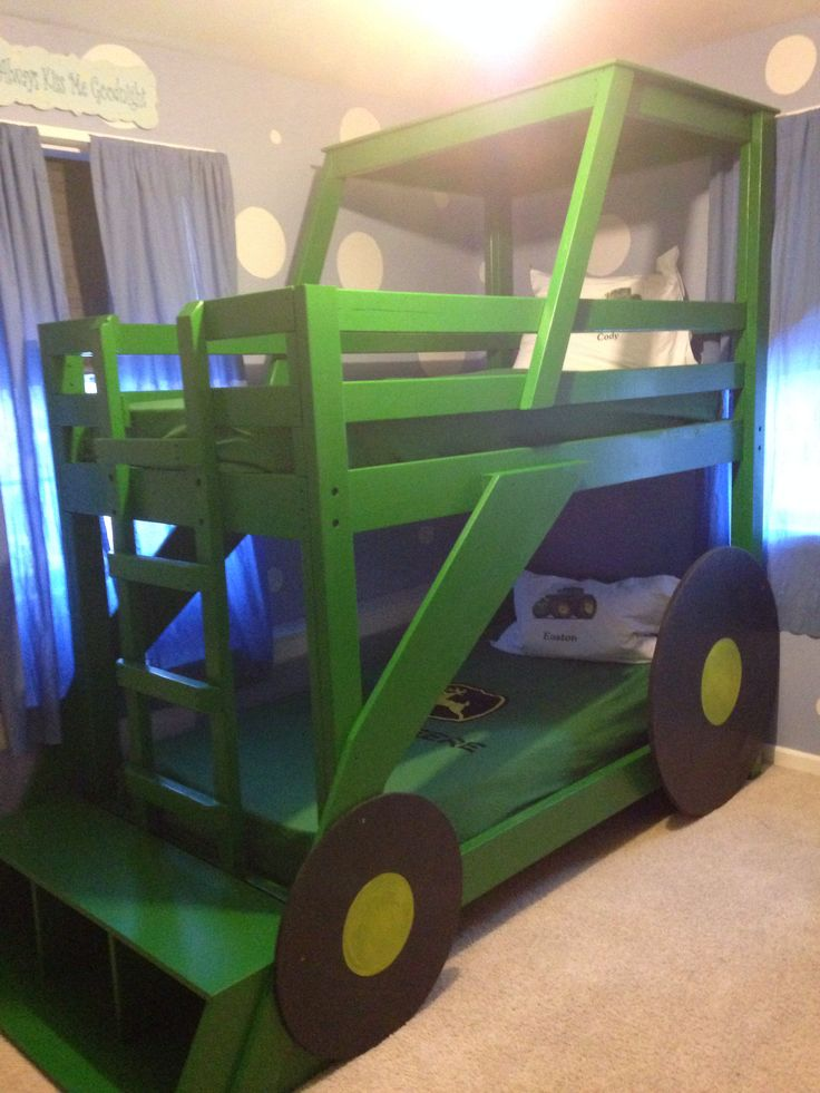 Tractor Bunk Bed Plans : Best images about bunk beds on pinterest tractor bed
