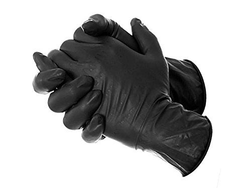 AmeriGrip Black Powder Free Nitrile Tattoo  Piercing Gloves Size Large  Box of 100 * Details can be found by clicking on the image. Note:It is Affiliate Link to Amazon.