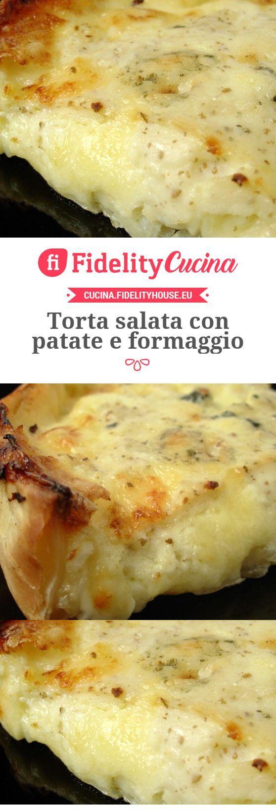 Torta salata con patate e formaggio