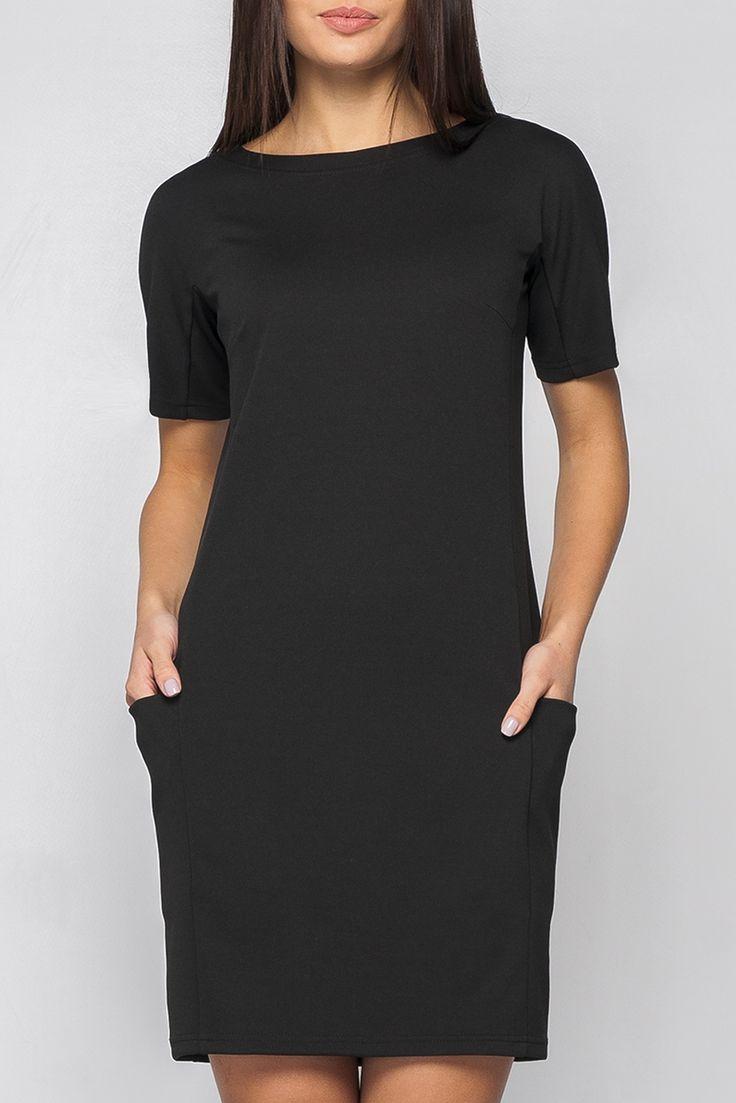 Чёрное платье-футляр с карманами — http://fas.st/1d6mP