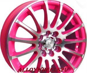"Pink Car Accessories   Wolfrace Alloy Wheels. Alloys 17"" Pro sprint HOT PINKALLOYS. 4 wheels."