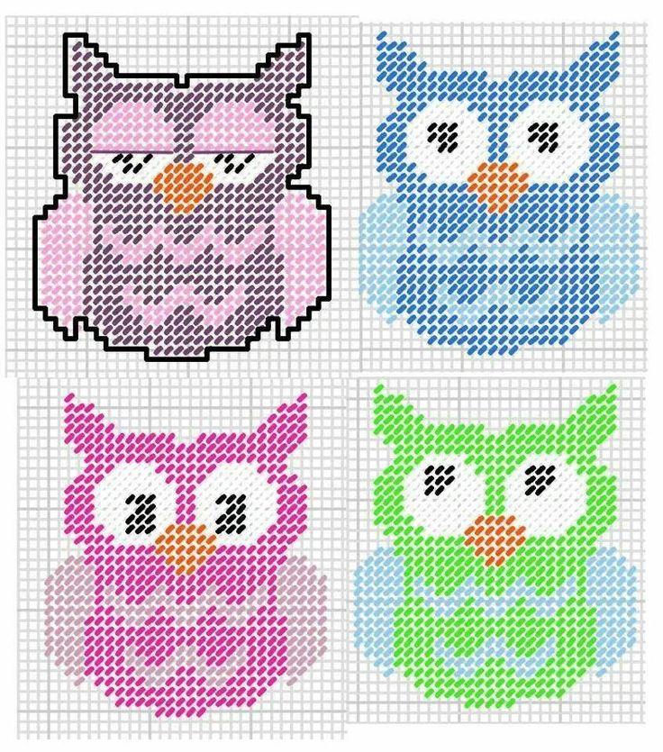 Owl plastic canvas                                                                                                                                                      More                                                                                                                                                     Más