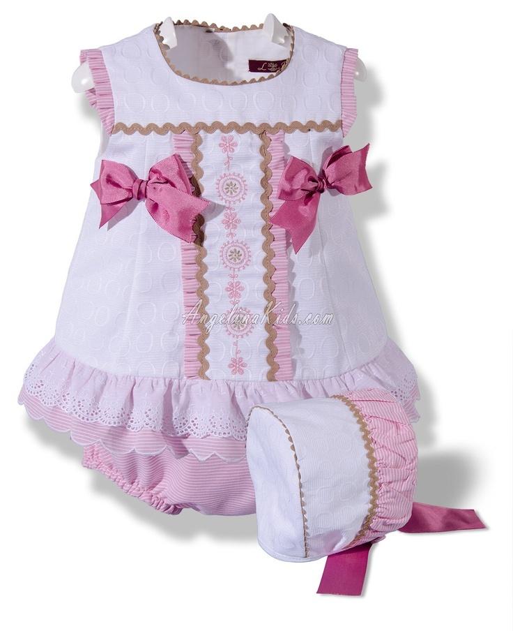Jesusito blanco y rosa con capota