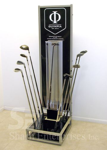 Olympia Golf Club Stand  Custom | Point of Purchase | Point of Sale | POSM | POP | POS | Custom Display | Store Fixture | Retail Design | Visual Merchandising