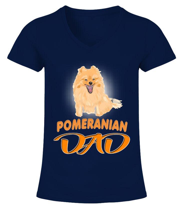 Pedigreed Dog German Toy Pomeranian Dad  Funny Pomeranian T-shirt, Best Pomeranian T-shirt