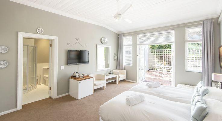 Room 2 - Ground floor room | StellenboschStellenbosch  #House #Room #White #Grey  www.summerwood.co.za