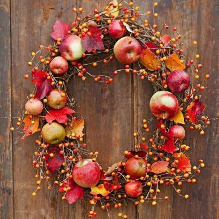 Apple Wreath Apple Decor Ideas Pinterest Cinnamon