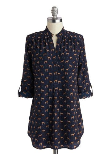 Falling in Puppy Love Tunic, #ModCloth