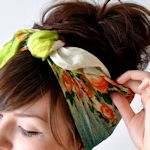 """Amy- Head Band Ideas for """"Homemade Memories"""" company. Take your loved ones old clothes and make items you'll actually wear.  Favorite baby dress--into adorable little girl head bands."""
