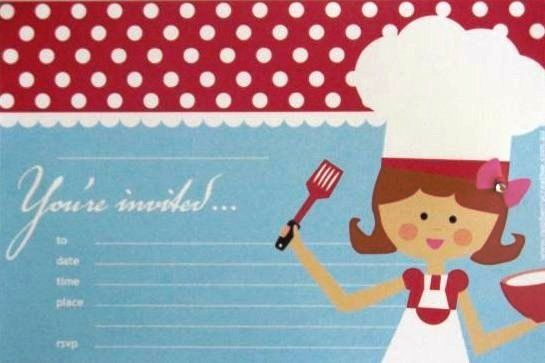 Cooking invitations at http://thecompletekidsparty.com.au/party-invitations/