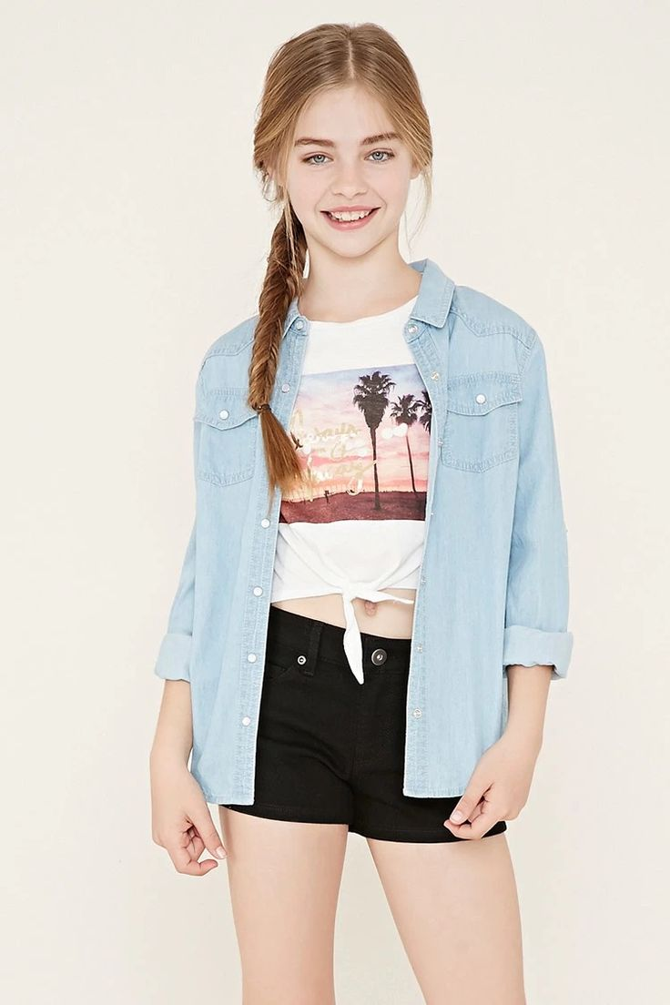 Girls Denim Shorts (Kids) #f21kids