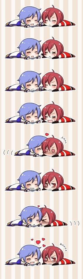 Aww~ Mekio and Kaito ❤