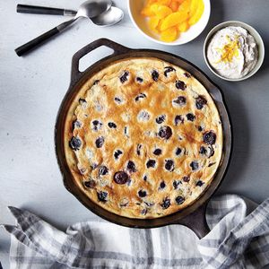 Cranberry and Dark Cherry Clafoutis | MyRecipes.com When beating such a small amount of egg white (you only need one) to soft peaks, it's easy to do by hand. Just place the white in a medium bowl, and beat vigorously with a whisk; it should take about a minute.