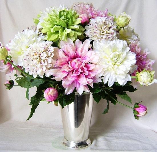 Silk Flower Altar Arrangements Wedding: Custom Silk Flower Arrangements By Violainteriordesign On