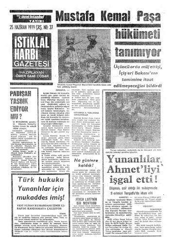 ''Mustafa Kemal Paşa hükümeti tanımıyor!'' (İstiklal Harbi Gazetesi, 25 Haziran 1919) #UnutulmuşManşetler #gazete #istanlook