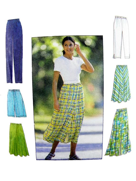 1997 Simplicity 7655 Misses' Pull-on Pants by patternscentral