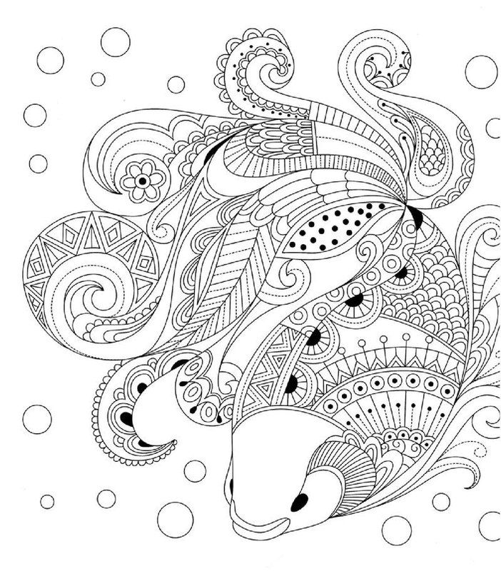 Coy Goldfish Coloring Page