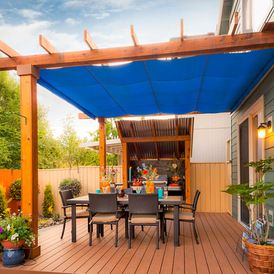 transitional deck by Paradise Restored Landscaping & Exterior Design