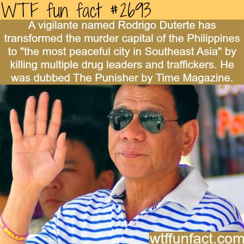Rodrigo Duterte, The Punisher -WTF funfacts
