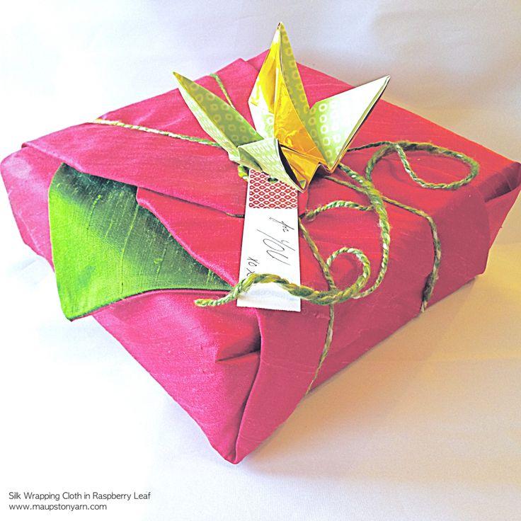 Silk Wrapping Cloth in Raspberry Leaf Furoshiki