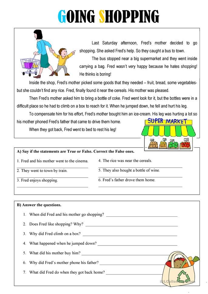 Going Shopping | Teaching | English reading, English lessons