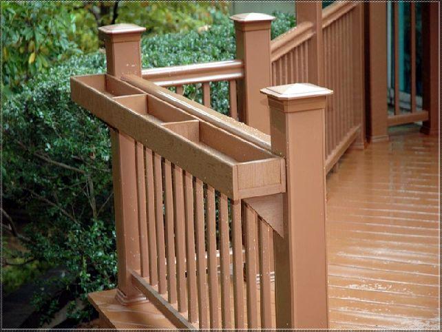 best 25 deck railing planters ideas on pinterest. Black Bedroom Furniture Sets. Home Design Ideas