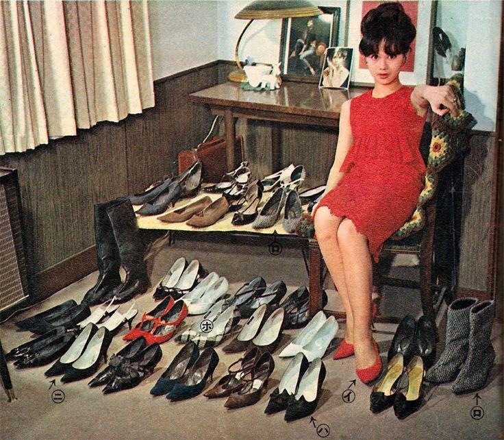 Kaga Mariko And Her Shoes Collection In Josei Jishin Women Themselves Magazine
