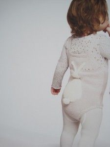 There is a bunny butt on this child's butt. @Alexandra Snodgrass
