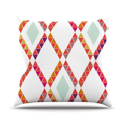 Take A Look At Aztec Diamonds Geometric Outdoor Throw Pillow by KESS InHouse