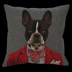 Boston Terrier coussin