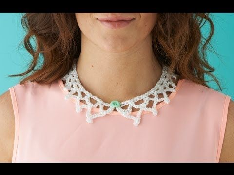 How to make a crochet collar - YouTube