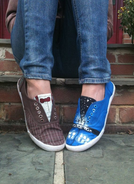 Doctor Who Shoes - yes please! (I would like them better if it was Tennant instead of Smith)