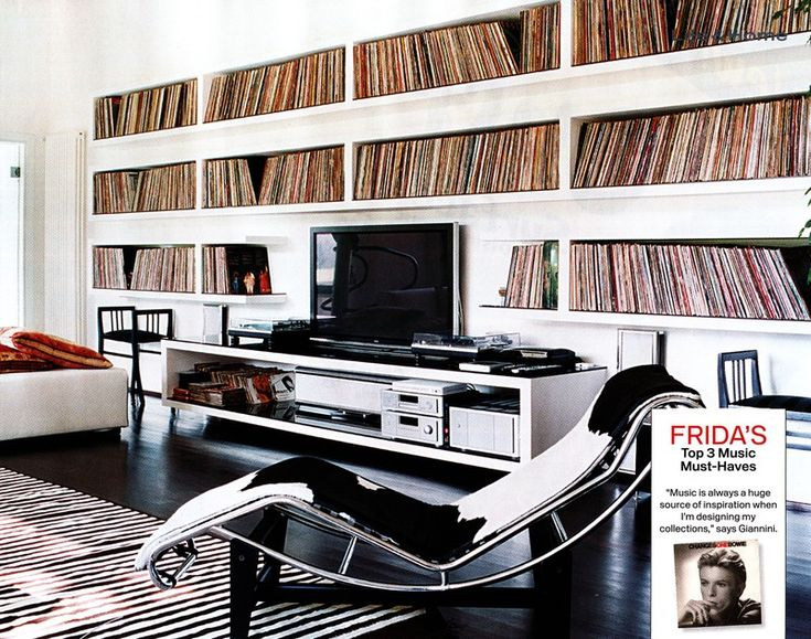 Interiors: Frida Giannini | Priscilla Lives vinyl record collection