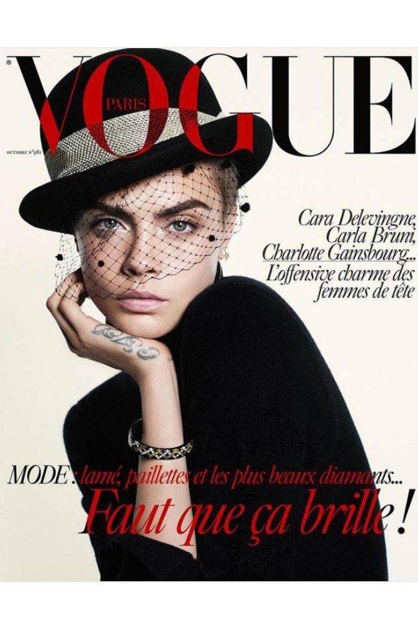 Cara Delevingne auf dem Cover der französischen Vogue