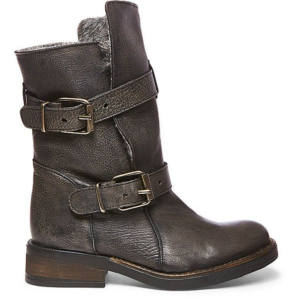 Buckle up your boots, ladies! CAVEAT-F is constructed with durable leather with buckled straps for extra style.  Wear these boots with some detailed tights, mi…