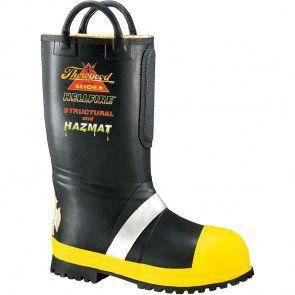 807-6000 Thorogood Men's HELLFIRE Rubber Boots - Black www.bootbay.com