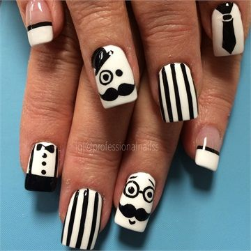 Day 317: Gentlemanly Nail Art www.nailsmag.com