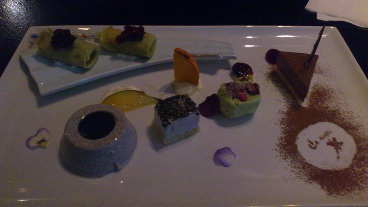 Desserts assortment デザートの盛合わせ, Sansui Japanese Restaurant, Auckland CBD, Auckland, New Zealand