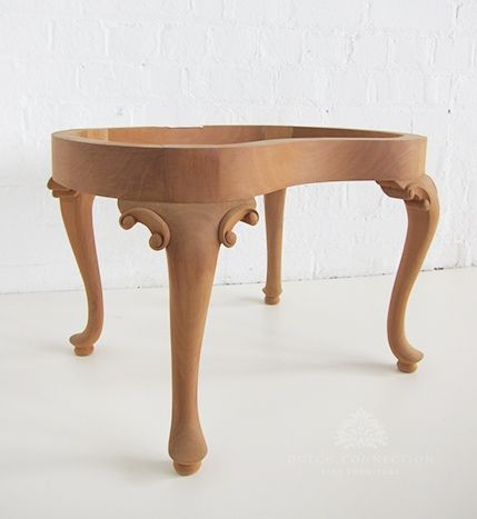 Traditional French Bedroom Stool / Kidney Shaped Stool / Dutch Connection