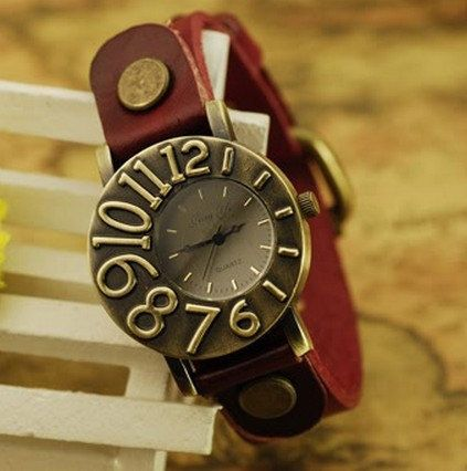 Retro Style Simple leather wrist watch,Handmade Women's Watch leather wrist watch 2189S