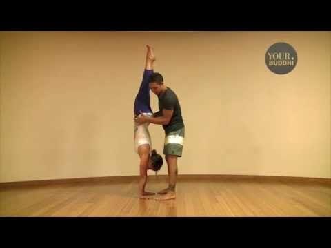 ▶ yogaTip: Press-Up Handstand with Dylan Werner - YouTube