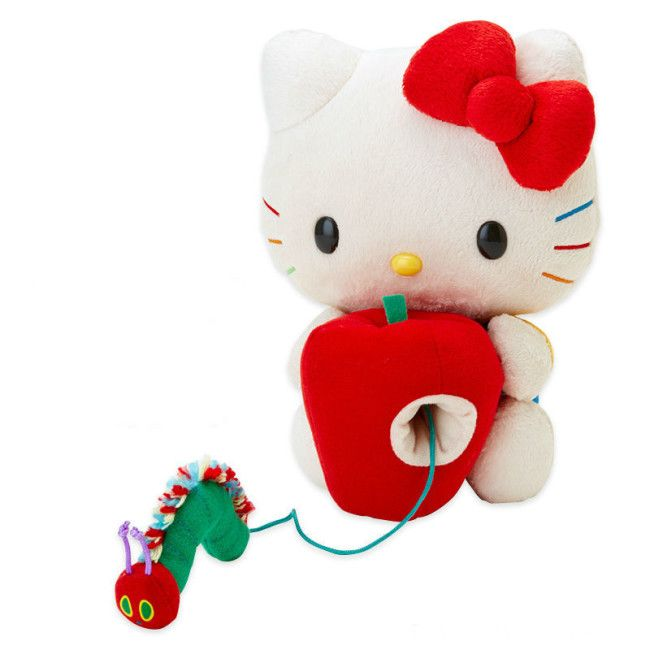 Hello Kitty and The Very Hungry Caterpillar collaborate on a line of adorable goods for no other reason than what seems to be the helluvit. We're happy about this, too, because the pair is undeniably cute. Just look at them together in plush doll form . Among the 21 items released for the occasion are Japanese bento boxes, cutlery, handbags More »