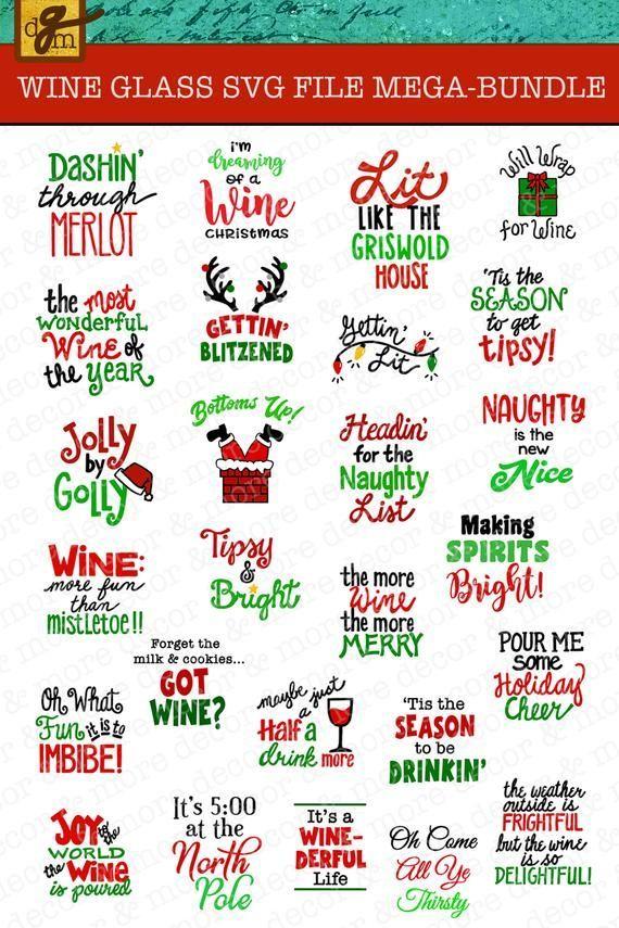 Download Christmas Wine Glass Svg File Mega Bundle 26 Funny Christmas Wine Glass Label Svg Files Wine Glass Svg File Christmas Wine Decal Svg Christmas Wine Glasses Christmas Wine Christmas Humor