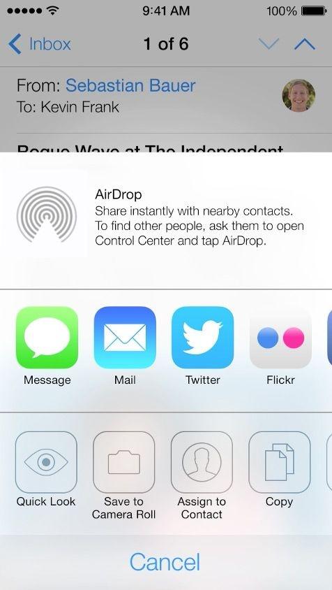 #UI #flat #design 20 Gorgeous iOS 7 Screenshots - AirDrop